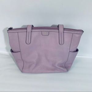 Fossil lavender Tote with zipper opening pockets